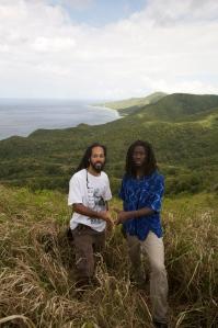 """Laurent """"Tippy"""" Alfred och sångaren Toussaint på St Croix"""