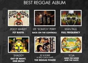 Best reggae album Grammy